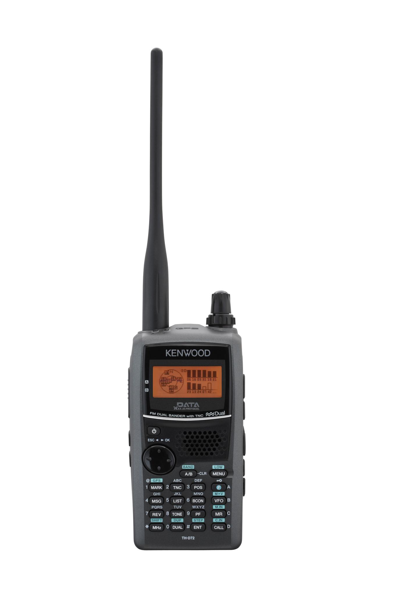 TH-D72 s integrovanou GPS a miniUSB