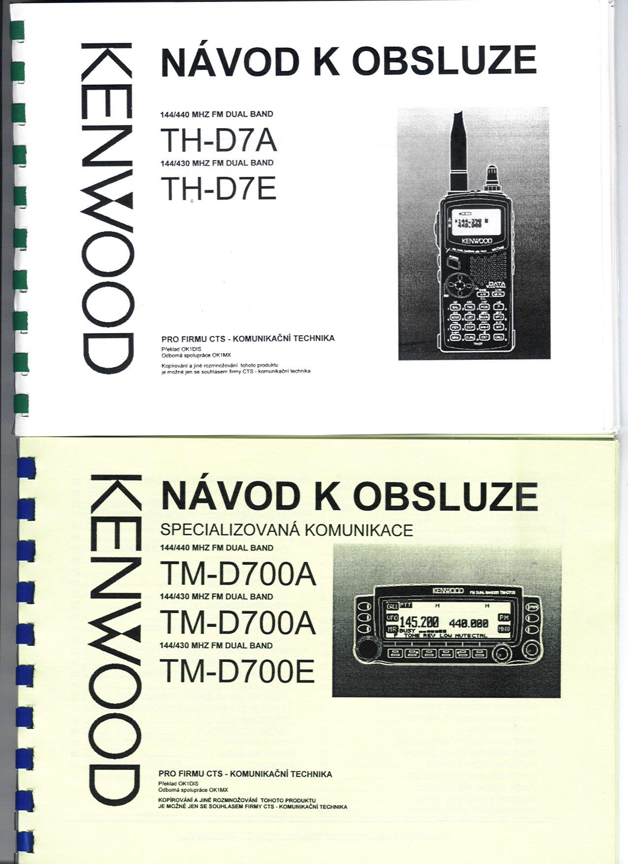 Český manuál pro TH-D7 a TM-D700